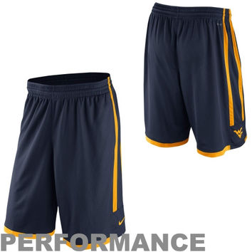 Nike West Virginia Mountaineers Classics Basketball Performance Shorts - Navy Blue