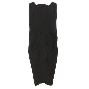 ONETOW balenciaga draped crepe dress 2