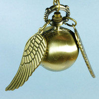 SaleHarry Potter Enchanted Golden Snitch WATCH by tonightstar