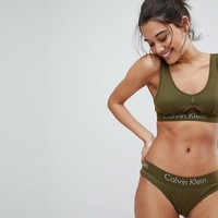 Calvin Klein Body Bralette & Brief Lingerie Set at asos.com