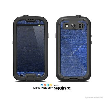 The Scratched Blue Surface Skin For The Samsung Galaxy S3 LifeProof Case