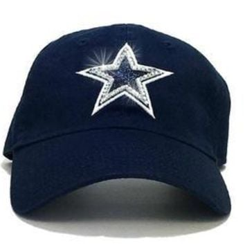 NFL-All Teams Adjustable Cap + Swarovski Crystals