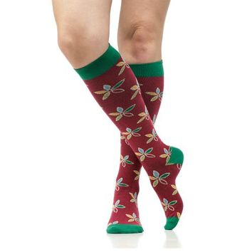 Compression Socks with Flowers