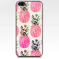 Watercolor pineapple iphone case,ipod case,samsung galaxy case available plastic and rubber case B001