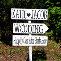 Wedding Signs CuStOm MAKE YOUR OWN WoRdInG Large Directional Rustic Wedding Signage Personalized Arrows Direction Outdoor Stake Wood Beach