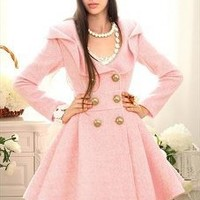 Pink Lady Woollen Coat/Dress