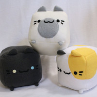 Neko Atsume Plush Toy, Cat Pillow, Plushie, Stuffed Toy, Cat Plush Toy, Cat Cube