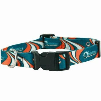 DCCKT9W Miami Dolphins Dog Collar