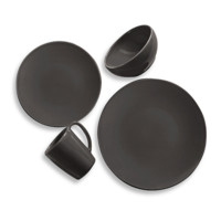 Kenneth Cole Reaction Home Solid Round 4-Piece Place Setting in Grey