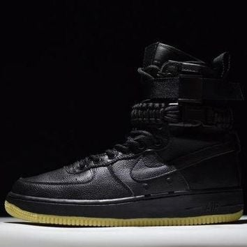 PEAPONVX Jacklish Nike High Tops Special Field Air Force 1 Sf-af1 Black Gum Online Sale