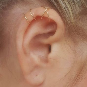 Ear Cuff Set, Ear Cuffs, Cartilage Ring, No Piercing, Cartilage Earcuff, Fake Helix Piercing, Clip on Cuff, Cartilage Hoop, Cartilage cuff