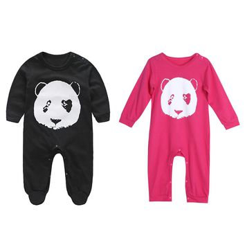 Baby Romper Cartoon Animals Panda Baby Infant Baby Clothes Set Newborn Cotton Long Sleeve Clothes Jumpsuit 0 to 24 Months FCI#