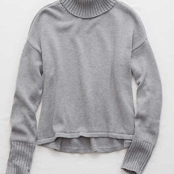 Aerie Turtleneck Sweater , Medium Heather