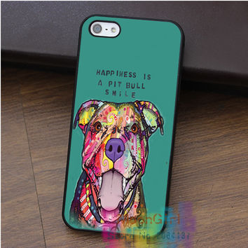 Pit Bull Smile Animal fashion cell phone case for iphone 4 4s 5 5s 5c SE 6 6s 6 plus 6s plus 7 7 plus #qz355