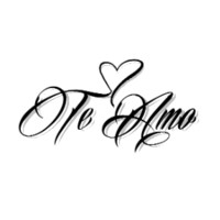 Te Amo Temporary Tattoo