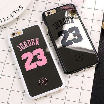 LMFUG7 NBA brand Michael Jordan 23 Case For iPhone 6 6 Plus 5 5s SE Hard Mirror Phone Case Co