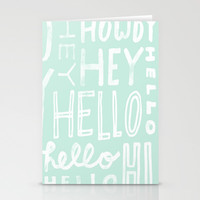 hello. Stationery Cards by Pink Berry Patterns
