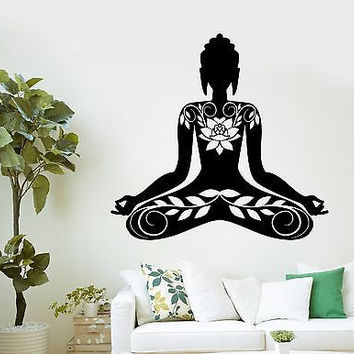 Wall Sticker Buddha Meditation Mantra Zen Yoga Vinyl Decal (z2893)