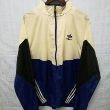 SALE!! Vintage Adidas Windbreaker Jacket Colorblock Tricolor Size L Made in Thailand