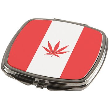Canada Flag Pot Leaf Marijuana Compact