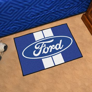 "Ford Oval with Stripes Starter Rug 19""x30"""