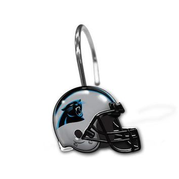 Carolina Panthers NFL Shower Curtain Rings [12 Rings Per Box]