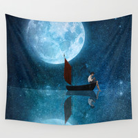 The Moon and Me Wall Tapestry by Diogo Verissimo