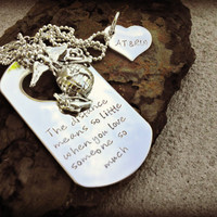 Deployment Necklace - Military Sepration - Marine Wife - Army Wife - Deployment Jewelry - Military Deployment - Navy - Air Force - USMC