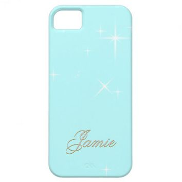 Tiffany blue sparkles customize iPhone 5 case from Zazzle.com