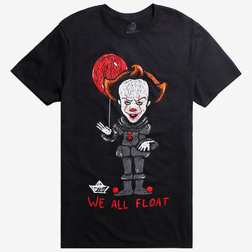 It Pennywise We All Float Crayon Sketch T-Shirt