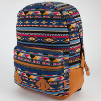 Carrot Company Ethnic Print Backpack Blue One Size For Women 23781920001
