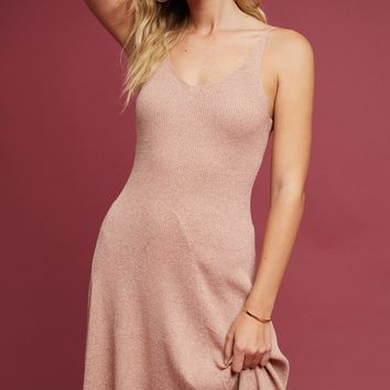 Sweater-Knit Slip Dress