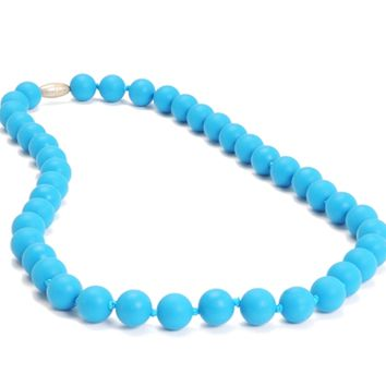Chewbeads Jane Teething Necklace - Deep Sea Blue