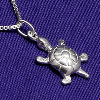 Turtle Necklace,Sterling Silver,Tiny,Small,Petite,Nautical Jewelry,Ocean Jewelry,Sea Turtle,Nautical Necklace,Turtle Charm,Turtle Pendant