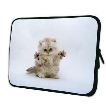 "Cute Cat Laptop Sleeve Case Tablet Pouch Cover 7"" 7.7 7.9 8 8.1 inch e book Netbook Briefcase For iPad Mini Amazon Kindle Fire 7"