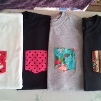 Customized Tribal Pocket TShirt Sizes Small by PocketTeesandThings