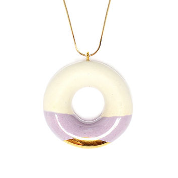Milky Doughnut with Blueberry and Gold Glaze