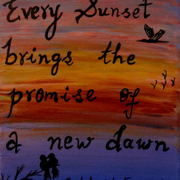 Canvas painting Colorful sunset Love birds Inspirational quotes canvas quote painting Acrylic painting Sunset birds Nature quotes Wall decor