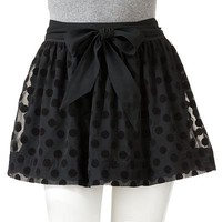 SO Flocked Dot Skirt