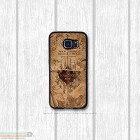 Marauder's Map, Harry Potter Inspired, Custom Phone Case for Galaxy S4, S5, S6