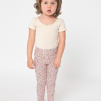 8128pf - Kids Floral Printed Cotton Spandex Jersey Legging