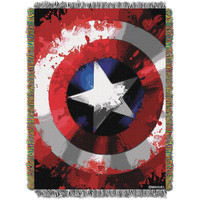 Marvel Comics Star Shield 051  Woven Tapestry Throw Blanket (48x60)