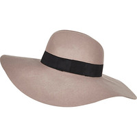 River Island Womens Mink oversized fedora hat