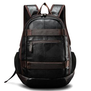 University College Backpack KatyPaul Brand Preppy Style Men PU Leather School  Bag For  Simple Design Men's Casual Day Packs Male New BagsAT_63_4