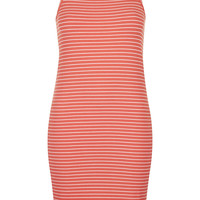 TALL Square Neck Striped Dress - Topshop