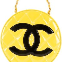Chanel Vintage Quilted Round Vanity Case - Farfetch