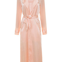 Clothing : Jackets : 'Coryn' Blush Silky Duster Coat