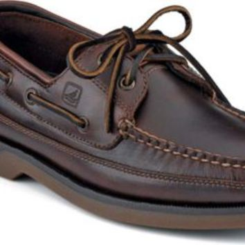 Sperry Top-Sider Mako 2-Eye Canoe Moc Boat Shoe Amaretto, Size 15W  Men's Shoes