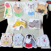 MULTIBUY 2 Magnetic Bookmarks of the Book Farm Animals! Book accessories, Unique bookmarks, Cute animals, Book gift, Animal collectibles