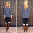 Naval Academy Knit Sweater Top